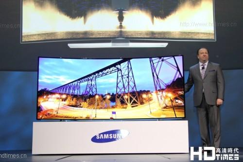 105英寸4K超高清曲面电视 三星CES全球首发