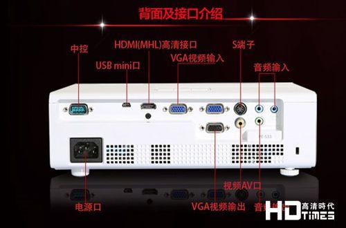 宏基PE-S33高清投影机-背面接口