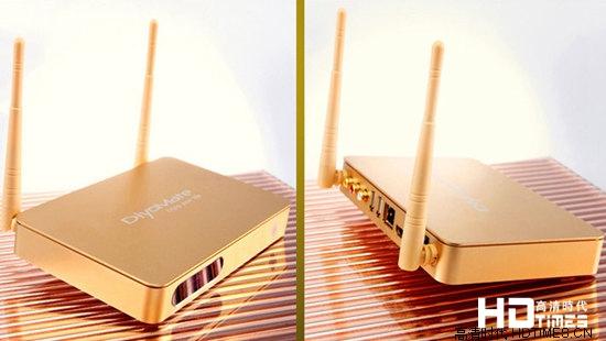 双核土豪金 迪优美特K10高清网络机顶盒上市