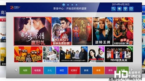 杰科R2四核高清网络机顶盒-华数TV平台