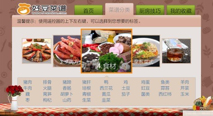 好豆菜谱tv版菜谱分类