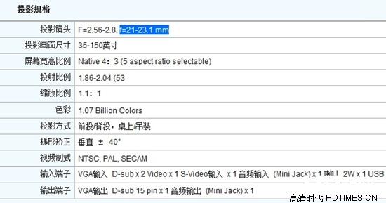 投影机安装距离计算方法与公式【详细解说】