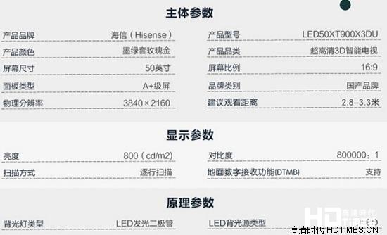 50寸4K新品 海信LED50XT900X3DU促销