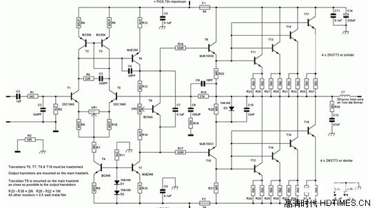 ab类功率放大器(class ab)也成为甲乙类功率放大器,它是兼容a类与