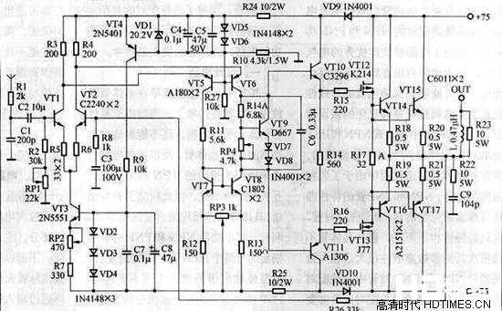 详细解析各类型功放电路图和原理【汇总】