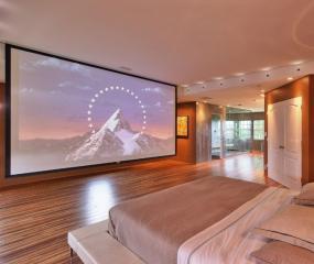 卧室家庭影院装修效果图 大投影