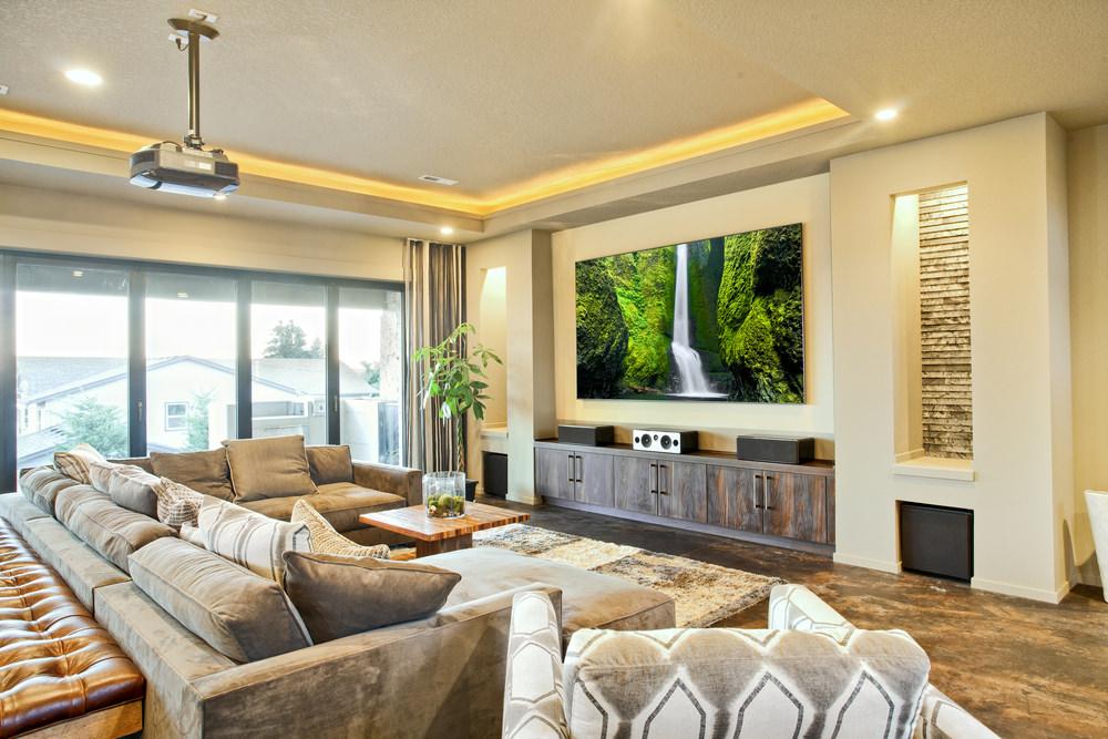 6个豪华的家庭影院效果图 兼具休闲