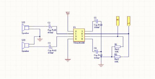 简易音频功放电路原理图分析