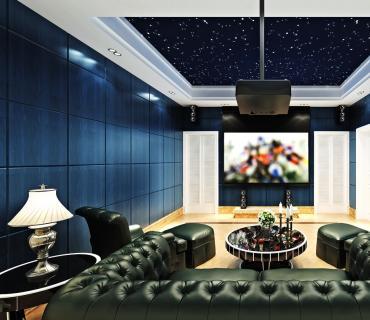 客厅音响布置效果图设计图 4张赏析